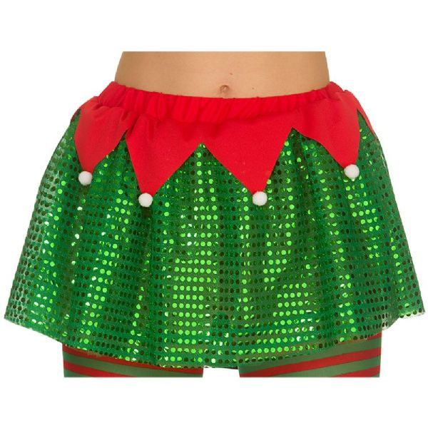 Ladies Deluxe Elf Tutu Festive Dwarf Christmas Helper Fancy Dress Cosplay